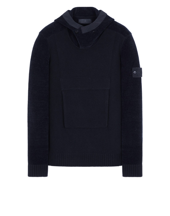 STONE ISLAND 593FA GHOST PIECE Sweater Man Blue