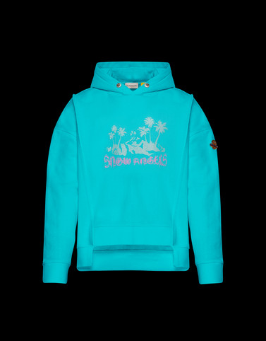 SWEATSHIRT Turquoise Category HOODED SWEATSHIRTS Woman
