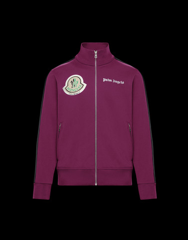 STRICKJACKE Dunkelviolett 8 Moncler Palm Angels