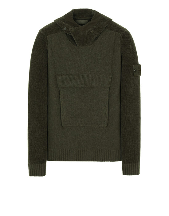 STONE ISLAND 593FA GHOST PIECE Sweater Man Military Green