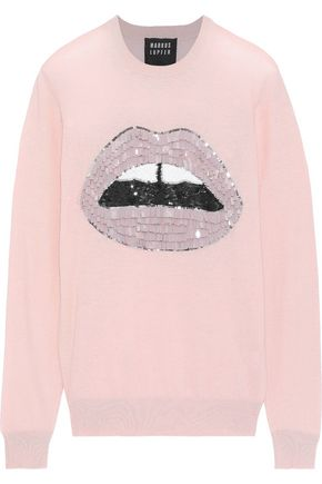 MARKUS LUPFER Mia sequin-embellished cotton sweater