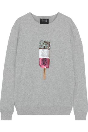 MARKUS LUPFER Natalie embellished cotton sweater