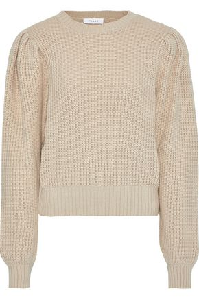FRAME Ribbed cotton-blend sweater