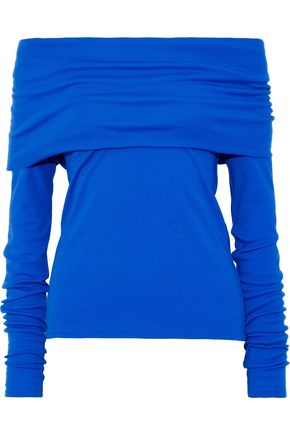 EMILIO PUCCI Off-the-shoulder wool-blend top