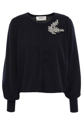 BA&SH Dora crystal-embellished cotton, silk and cashmere-blend cardigan