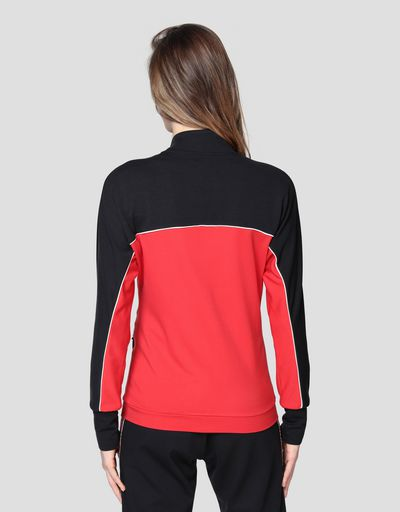 Sweat-shirt bicolore pour femme en point de Milan