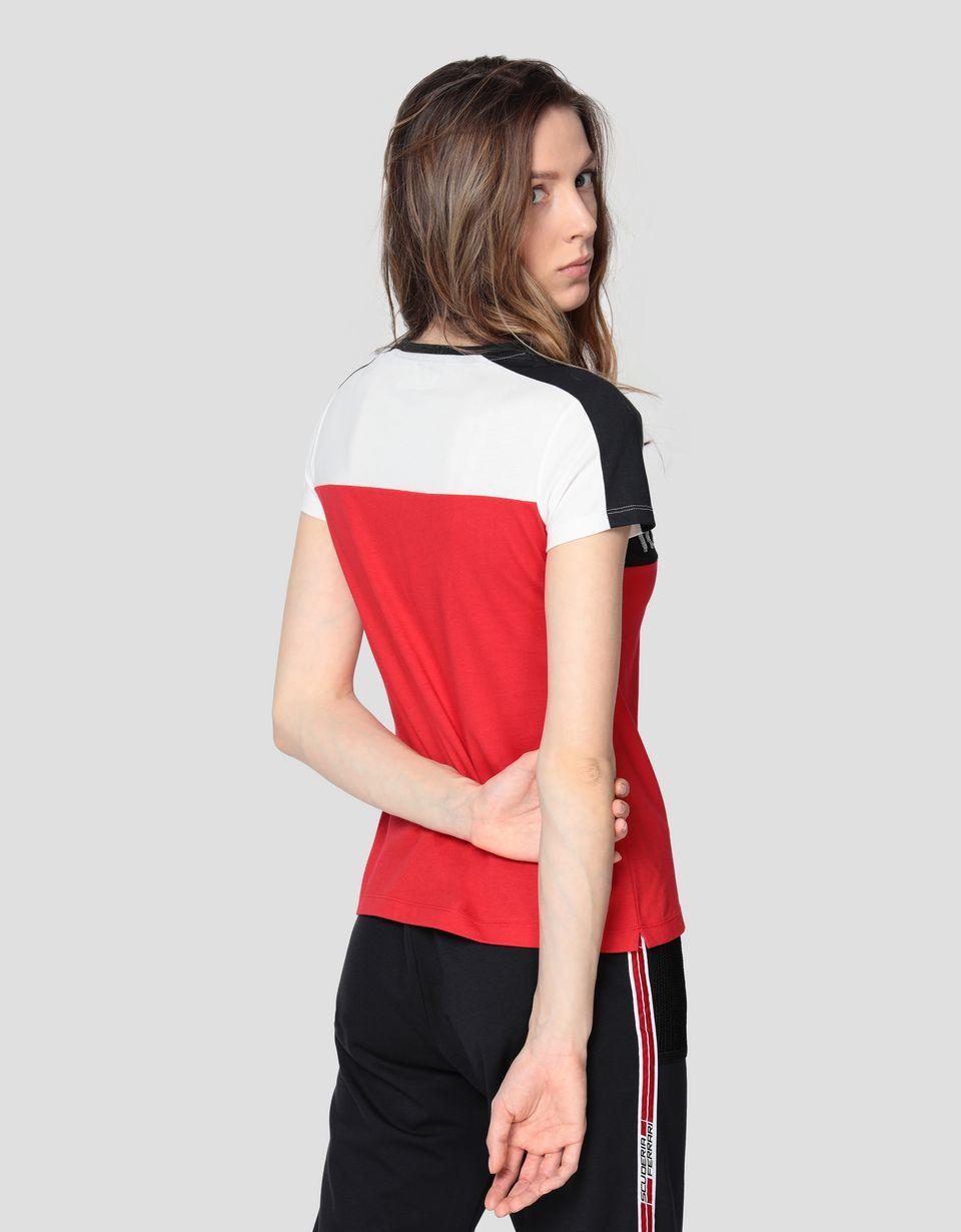 Scuderia Ferrari Online Store - T-shirt pour femme en jersey de coton avec sequins - T-shirts à manches courtes