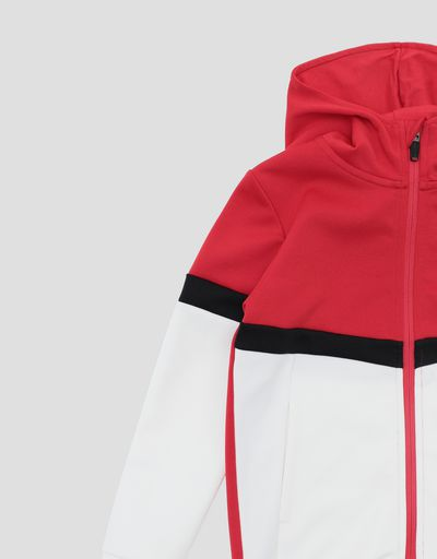 Scuderia Ferrari Online Store - Girls and Boys' triacetate full zipper sweatshirt - Zip Hood Sweaters