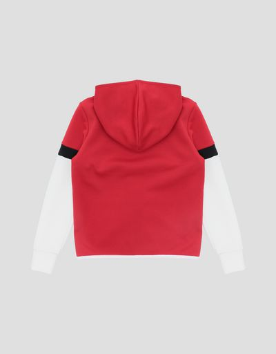 Girls and Boys' triacetate full zipper sweatshirt