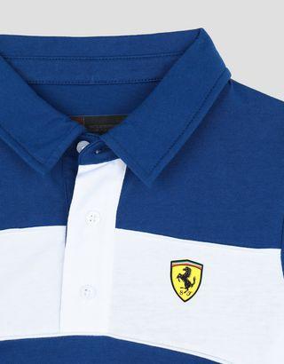 Scuderia Ferrari Online Store - Polo pour garçon en jersey avec imprimé SCUDERIA FERRARI - Polos à manches courtes