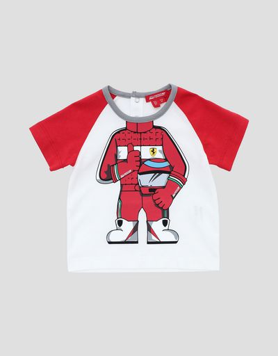 Infant's cotton T-shirt with driver print