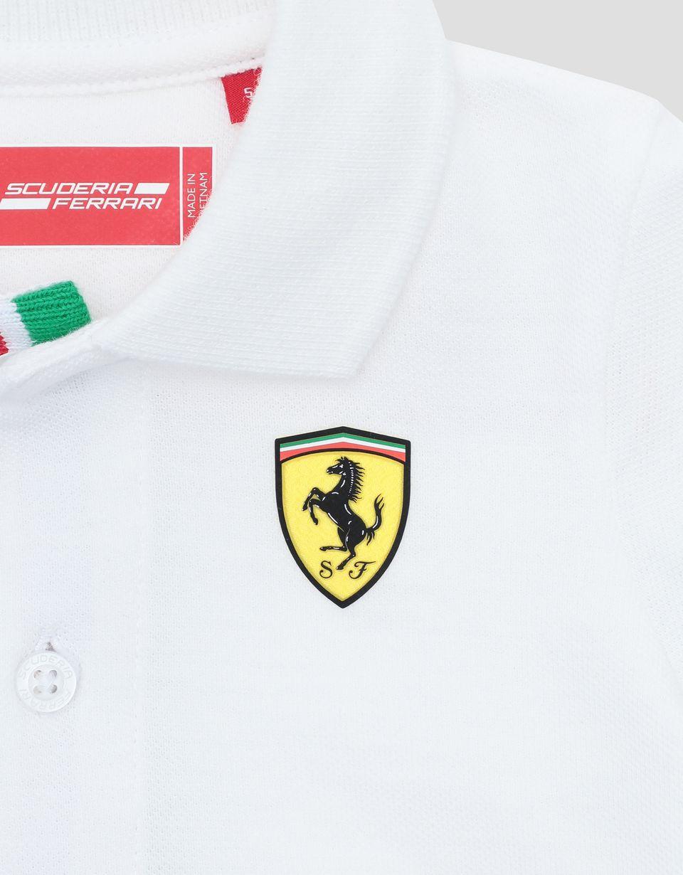 Scuderia Ferrari Online Store - Infants' cotton pique polo shirt with Italian flag -