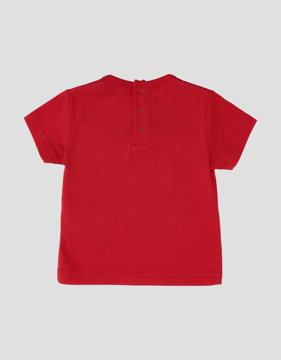 Scuderia Ferrari Online Store - Infants' cotton jersey T-shirt with Ferrari Shield - Short Sleeve T-Shirts