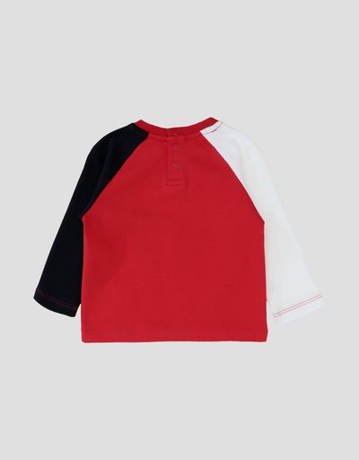 Long-sleeved infant T-shirt in cotton