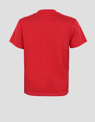 Scuderia Ferrari Online Store - Kids' cotton jersey T-shirt with FAST print - Short Sleeve T-Shirts