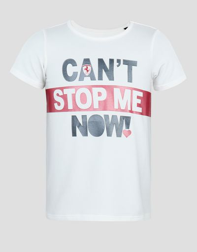 T-shirt bambina con stampa CAN'T STOP ME NOW!