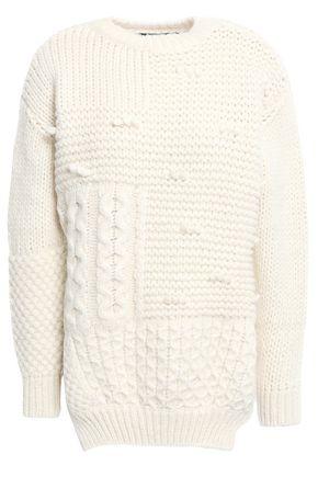 SIMONE ROCHA Paneled alpaca-blend sweater