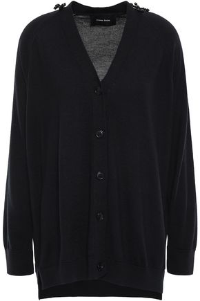 SIMONE ROCHA Bead-embellished merino wool, silk and cashmere-blend cardigan