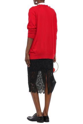 SIMONE ROCHA Bead-embellished merino wool, silk and cashmere-blend cardigan
