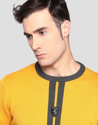 Scuderia Ferrari Online Store - Men's knitted sweater with livery pattern - Crew Neck Sweaters
