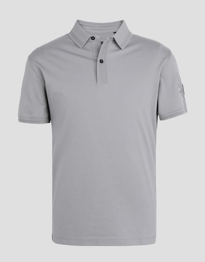 Scuderia Ferrari Online Store - Piqué polo shirt with laurel embroidery - Short Sleeve Polos