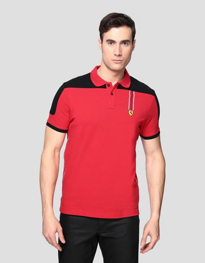 Men's cotton piquet polo shirt with Icon Tape