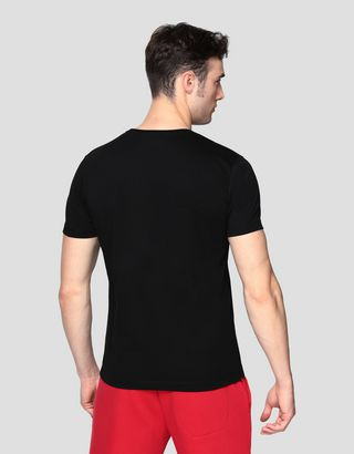 Scuderia Ferrari Online Store - Men's cotton T-shirt with print - Short Sleeve T-Shirts