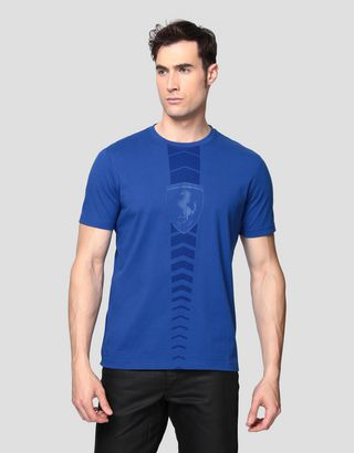 Scuderia Ferrari Online Store - Men's cotton T-shirt with rubberized print - Short Sleeve T-Shirts