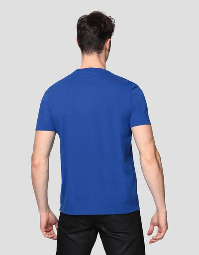 Men's cotton T-shirt with rubberised print