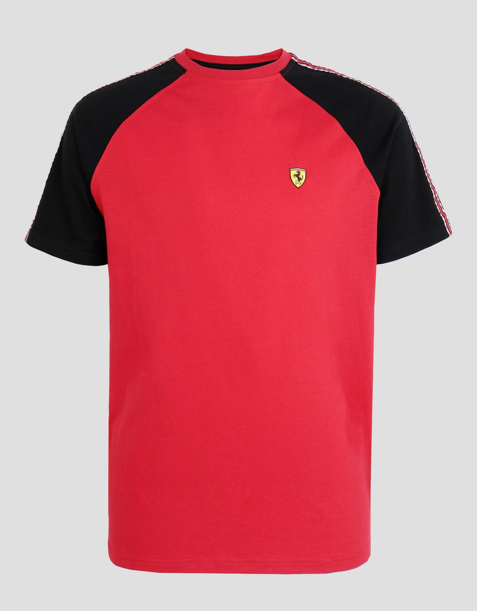 Scuderia Ferrari Online Store - Men's cotton T-shirt with Icon Tape -