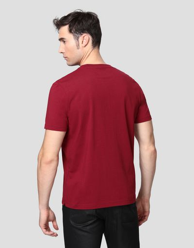 Men's cotton T-shirt with rubberized print