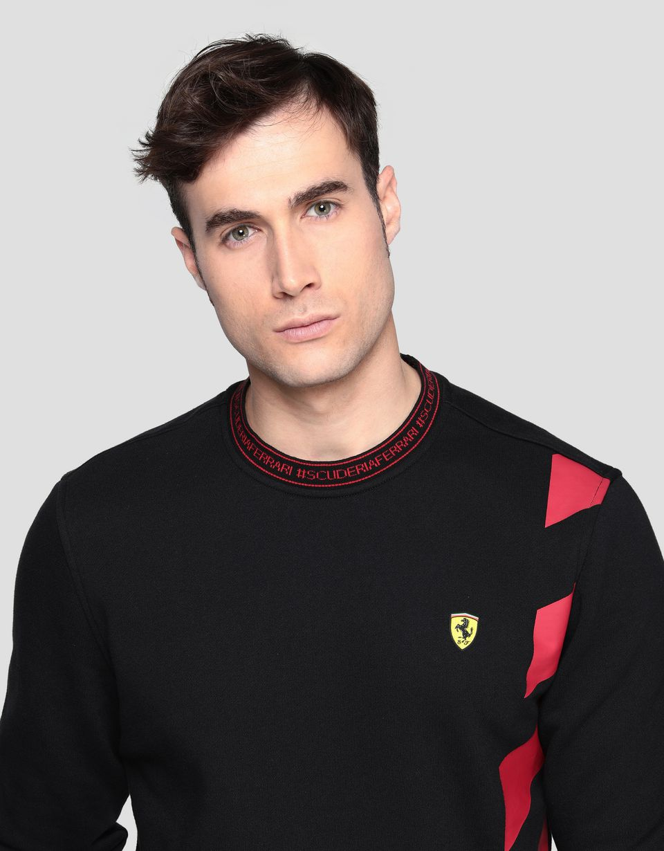 Scuderia Ferrari Online Store - Men's sweatshirt with contrasting pattern - Crew Neck Sweaters
