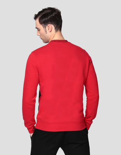 Men's sweatshirt with contrasting pattern