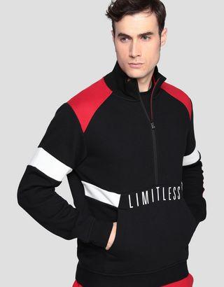 Scuderia Ferrari Online Store - Men's sweatshirt with LIMITLESS print - H-Zip Jumpers