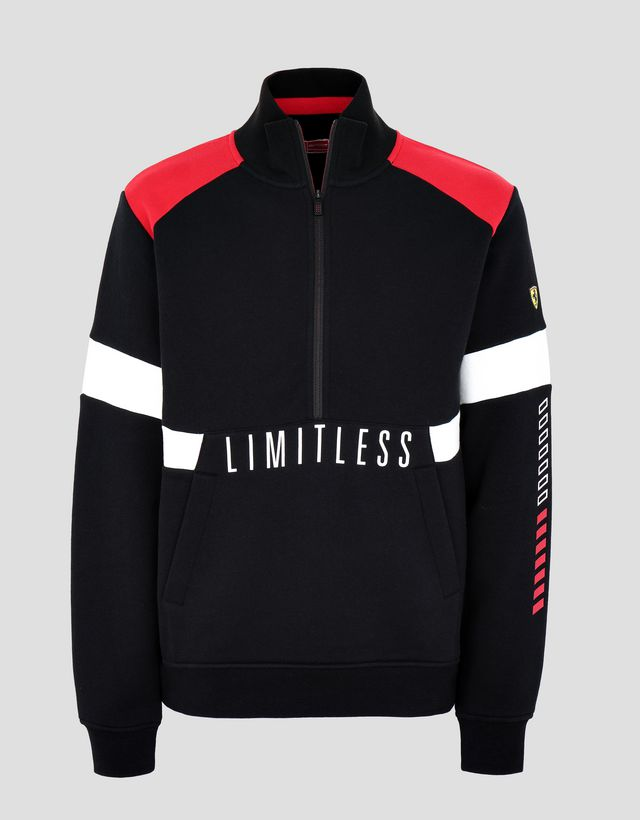 Scuderia Ferrari Online Store - Men's sweatshirt with LIMITLESS print - H-Zip Jumpers