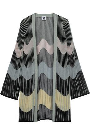 M MISSONI Metallic ribbed crochet-knit cardigan