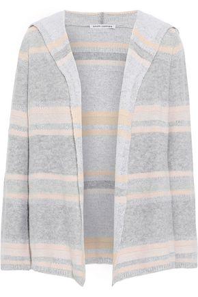 AUTUMN CASHMERE Striped cashmere hoodie
