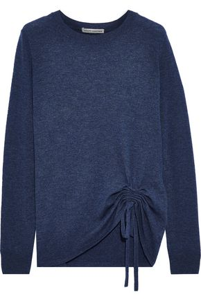 AUTUMN CASHMERE Ruched cashmere sweater