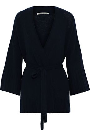 AUTUMN CASHMERE Belted cashmere wrap cardigan