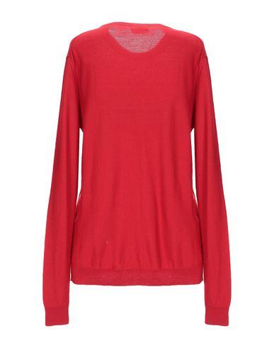 Фото 2 - Женский свитер  красного цвета