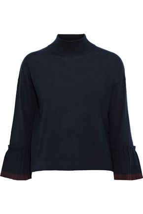 AUTUMN CASHMERE Pleated cashmere sweater