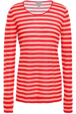 GREY JASON WU Striped wool top