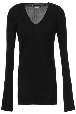 STELLA McCARTNEY Ribbed wool and silk-blend sweater
