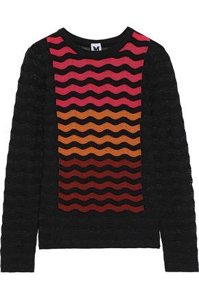エム ミッソーニ ストライプ かぎ針編みニット セーター