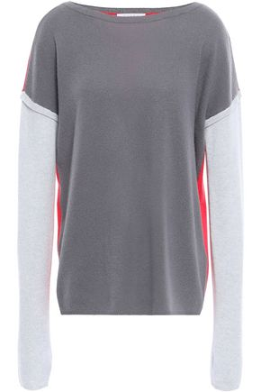 DUFFY Neon-paneled cashmere sweater
