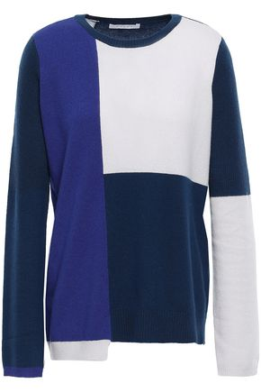 DUFFY Color-block cashmere sweater