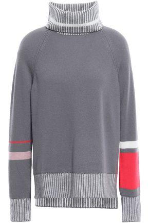 DUFFY Mélange cashmere turtleneck sweater