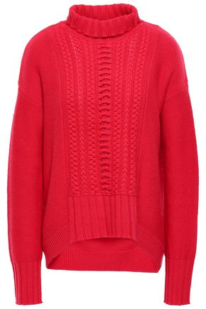 DUFFY Cable-knit wool and cashmere turtleneck sweater