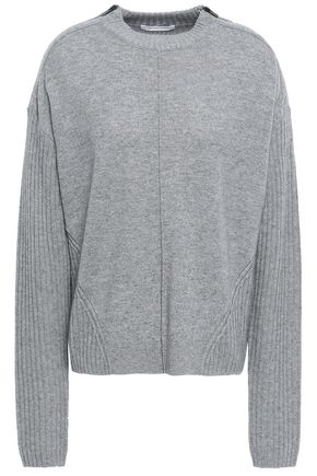 DUFFY Zip-detailed wool and cashmere-blend sweater