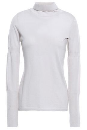 DUFFY Cashmere and silk-blend turtleneck sweater